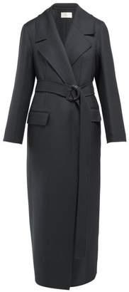 The Row Newen Wool Blend Coat - Womens - Dark Green