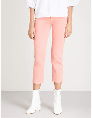 7 For All Mankind Edie straight cropped high-rise jeans