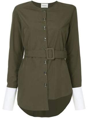 Monographie trench long sleeve shirt
