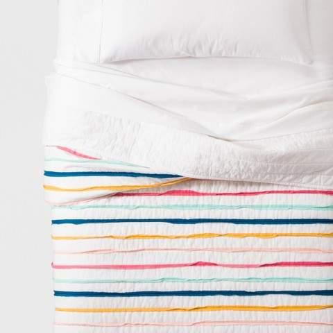 Pillowfort Ruffle Stripe Quilt