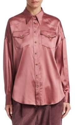 Brunello Cucinelli Silk-Blend Blouse