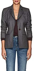 Altuzarra Women's Acacia Pinstriped Wool-Blend One-Button Blazer - Gray