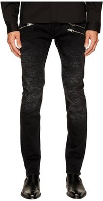 Just Cavalli - Destroyed Zipper Jeans Men's Jeans $455 thestylecure.com