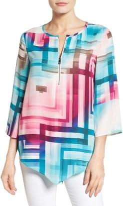 Women's Chaus Ombre Prism Zip Front Blouse $69 thestylecure.com