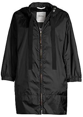 Max Mara Women's Aparka Short Hooded Nylon Raincoat