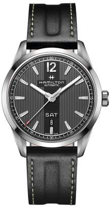 Hamilton American Classic Broadway Automatic Leather Strap Watch, 38mm
