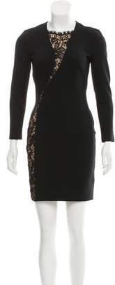 Emilio Pucci Lace-Paneled Mini Dress