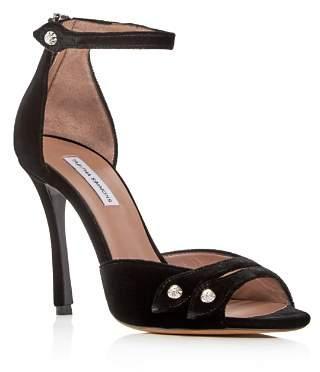Tabitha Simmons Women's Mali Velvet Ankle Strap High-Heel Sandals