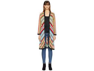 Mary Katrantzou Sola Cardigan Fira Stripe Knit