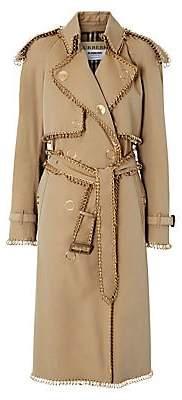 Burberry Women's Gold Pierced Trenchcoat