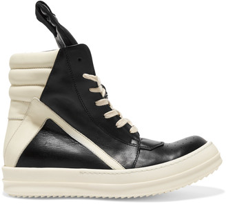 Rick Owens Two-tone leather sneakers $1,144 thestylecure.com