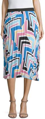 WORTHINGTON Worthington Womens Midi Pleated Skirt
