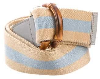 Gucci Bamboo Web Belt
