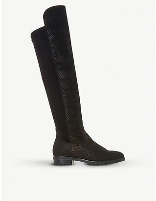 Dune Tarrin stretch-panel over-the-knee boots