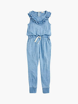 J.Crew crewcuts by Girls' Ruffle Jumpsuit, Blue