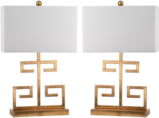 Safavieh Set Of 2 Greek Key 25In Table Lamps