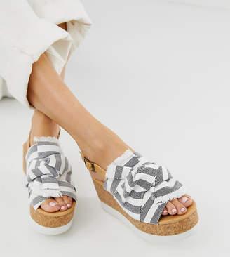 Blink bow platform cork sandals