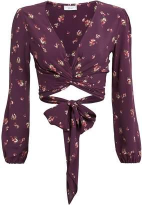 Flynn Skye Floral Wrap Crop Top