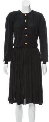 Saint Laurent Button-Up Midi Dress