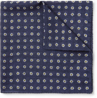 Anderson & Sheppard Printed Wool-Twill Pocket Square