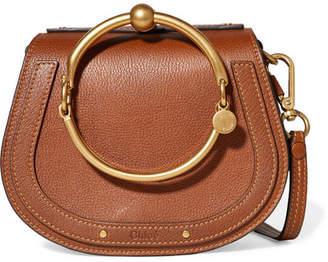 Chloé Nile Bracelet Small Textured-leather Shoulder Bag - Light brown
