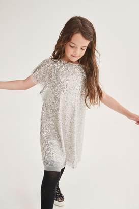 Next Girls Sequin Shift Dress (3-16yrs) - Silver