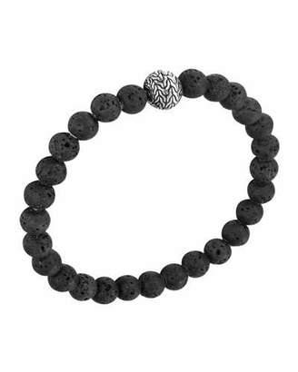 John Hardy Men's Batu Classic Chain Volcanic Bead Bracelet