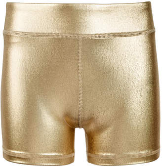 Macy's Ideology Big Girls Metallic Compression Shorts, Created for