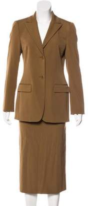 Dolce & Gabbana Virgin Wool Skirt Suit Set