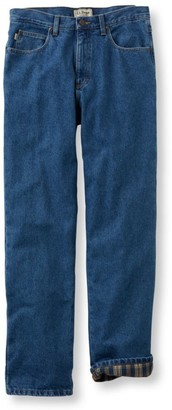 L.L. Bean L.L.Bean Men's Double LA Jeans, Classic Fit Flannel-Lined