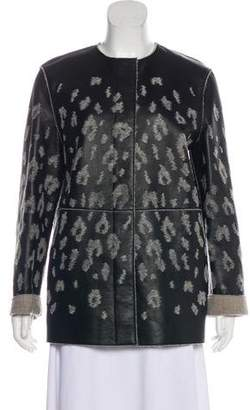 Lanvin Textured Leather Jacket