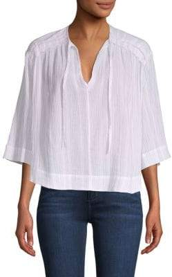 Vince Variegated Striped Cotton Top