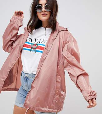 Asos Design Curve Rainwear Jacket With Bum Bag