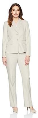 Le Suit Women's Stripe Herringbone 2 Bttn Notch Lapel Pant