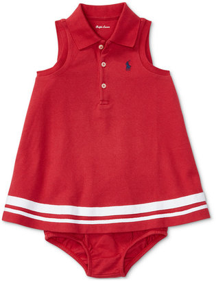 Ralph Lauren Sleeveless Cotton Polo Dress, Baby Girls (0-24 months) $35 thestylecure.com