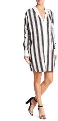 KENDALL + KYLIE Kendall & Kylie Boyfriend Stripe Shirt Dress