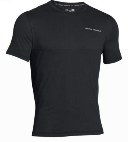 Under Armour UA Men's Athletic Shirt Charged Cotton Short Sleeve (Black, XL)