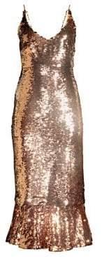 Saloni Aidan Sequined Dress