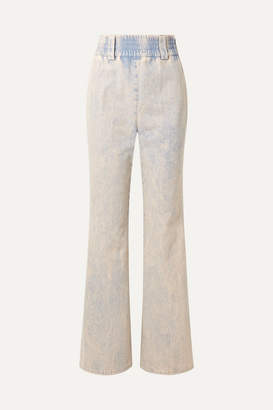 Miu Miu High-rise Wide-leg Jeans - Blue