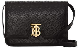 Burberry Medium TB Monogram Leather Crossbody Bag