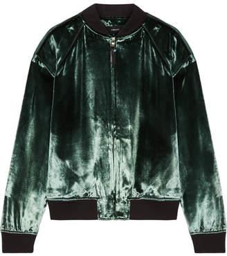 J Brand Pace Velvet Bomber Jacket - Green
