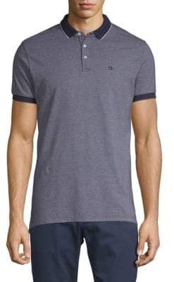 Scotch & Soda Classic Two-Toned Pique Cotton Polo