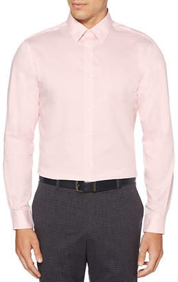 Perry Ellis Non-Iron Iridescent Twill Button-Down Shirt