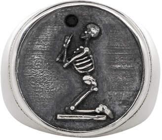 Stolen Girlfriends Club Silver Onyx Skeleton Ring
