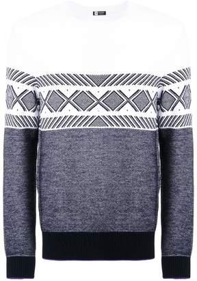 Ermenegildo Zegna intarsia knit sweater