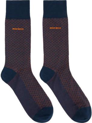BOSS Blue Minipattern Socks