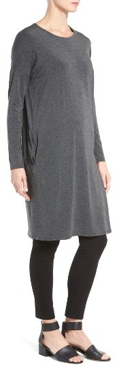 Women's Eileen Fisher Stretch Tencel Jersey Shift Dress 4