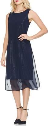 Vince Camuto Sequin & Chiffon Dress