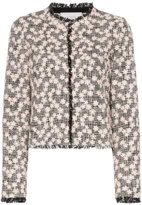 Giambattista Valli floral embroidered tweed jacket