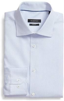 Bugatchi Shaped Fit Geometric Dress Shirt